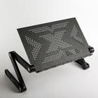 """Подставка-столик для ноутбука CROWN CMLS-103, до 17"""", регулируемая высота до 48см, черная"""