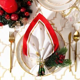 Салфетка 'Этель' Новогодняя сказка (вид 1) 40х40 см, 100% хл, саржа 190 гр/м2 Ош
