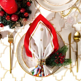 Салфетка 'Этель' Новогодняя сказка (вид 2) 40х40 см, 100% хл, саржа 190 гр/м2 Ош