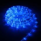 УЦЕНКА LED шнур 10 мм, круглый, 10 м, чейзинг, 2W-LED/м-24-220V, с контр. 8р, СИНИЙ