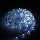 LED шнур 10 мм, круглый, 20 м, чейзинг, 2W-LED/м-24-220V, с контр. 8р, БЕЛЫЙ Уценка