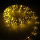LED шнур 10 мм, круглый, 20 м, чейзинг, 2W-LED/м-24-220V, с контр. 8р, ЖЕЛТЫЙ Уценка
