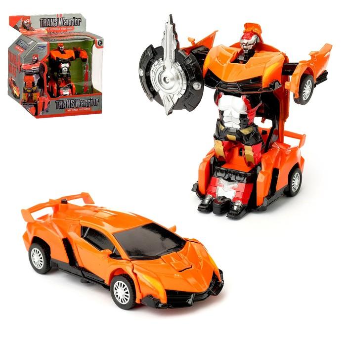 """Робот """"Автобот"""", трансформируется, с инерционным механизмом, цвет оранжевый"""