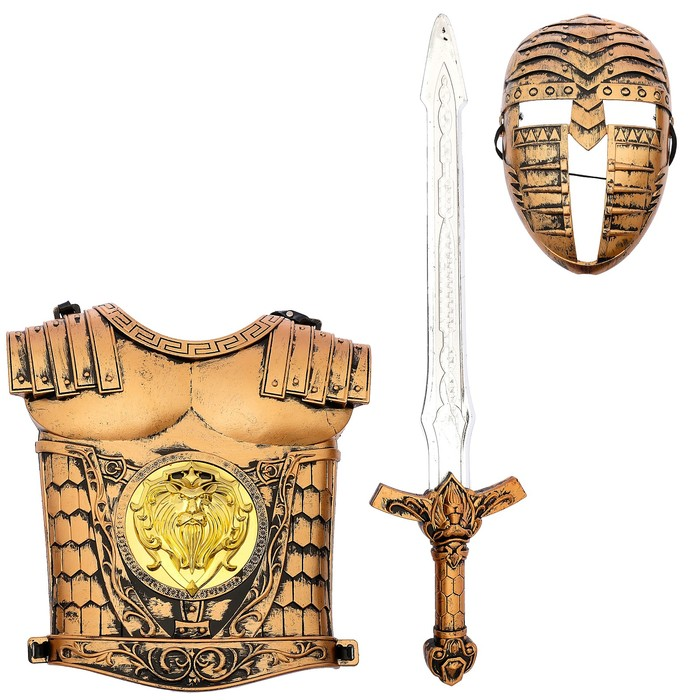 "Набор рыцаря ""Храбрый воин"", 3 предмета"