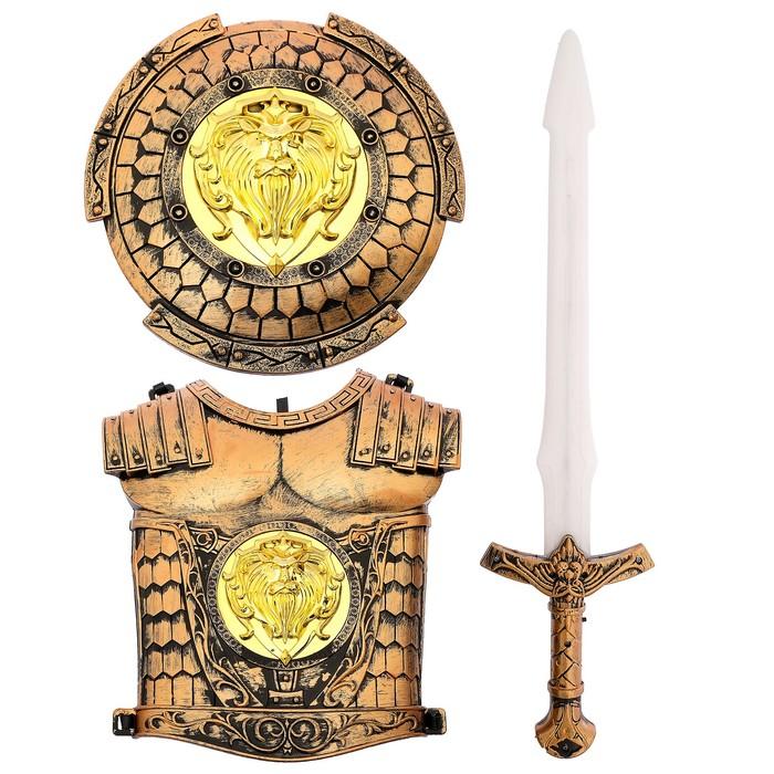 Набор рыцаря «Храбрый воин», 3 предмета