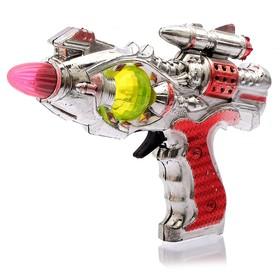 Пистолет «Космический», световые и звуковые эффекты, работает от батареек, цвета МИКС