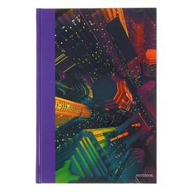 """Колледж-тетрадь А5, 100 листов в клетку """"Городской стиль. Небоскребы"""", твёрдая обложка, глянцевая ламинация, блок 60 г/м2"""
