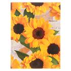 """Бизнес-блокнот А6, 96 листов """"Цветы. Солнечное настроение"""" твердая обложка, глянцевая ламинация"""