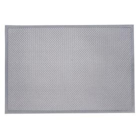 Коврик резиновый 60х90 см h=4,5 мм «ТВИСТ» цвет серый
