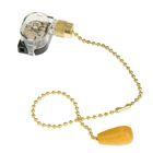 Выключатель для настенного светильника REXANT, c деревянным наконечником, цвет золото
