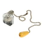 Выключатель для настенного светильника REXANT, c деревянным наконечником, цвет серебро