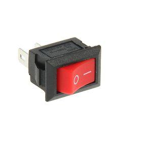 Выключатель клавишный REXANT RWB-101, 250 В, 3А (2с), ON-OFF, Micro, красный Ош