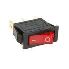 Выключатель клавишный REXANT RWB-404, 250 В, 15А (3с), ON-OFF, красный, с подсветкой