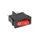 Выключатель клавишный REXANT RWB-103, 250 В, 6А (2с), ON-OFF, Mini, красный