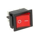 Выключатель клавишный REXANT RWB-506, 250 В, 15А (6с), ON-ON, красный, с подсветкой