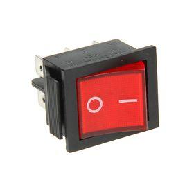 Выключатель клавишный REXANT RWB-506, 15А (6с), 250 В, ON-ON, с подсветкой, красный