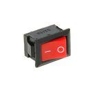 Выключатель клавишный REXANT RWB-201, 250 В, 6А (2с), ON-OFF, Mini, красный