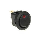 Выключатель клавишный REXANT RWB-215, круглый, 12 В, 16А (3с), ON-OFF, черный, с красной под
