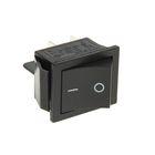 Выключатель клавишный REXANT RWB-501, 250 В, 15А (4с), ON-OFF, черный