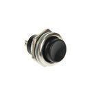 Выключатель-кнопка REXANT RWD-306, металл, 220 В, 2А (2с), ON-OFF, d=16.2, черная