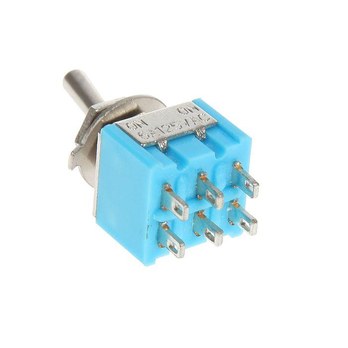 Тумблер REXANT MTS-202, 250 В, 3А (6c), ON-ON, Micro, двухполюсный
