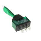 Тумблер REXANT ASW-13D, 12 В, 20А (3c), ON-OFF, однополюсный, с зеленой подсветкой