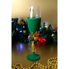 Набор новогодних бокалов, зеленые 2 шт, хрусталь