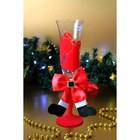 """Набор новогодних бокалов """"Санта"""", красные 2 шт, хрусталь"""