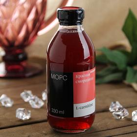 Низкокалорийный морс Mr. Djemius ZERO c L-carnitine 1500 мг, красная смородина, 330 мл