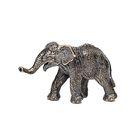 Скульптура «Слон» бронза 2,5х8х4 см