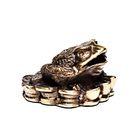 Скульптура «Лягушка» бронза 4х5х3 см