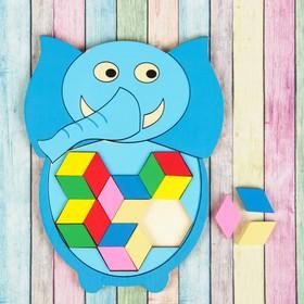 Мозаика-головоломка «Слонёнок»