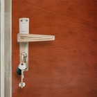 Комплект для обивки дверей: иск.кожа, поролон 3 мм, гвозди, коричневый, «Эконом»