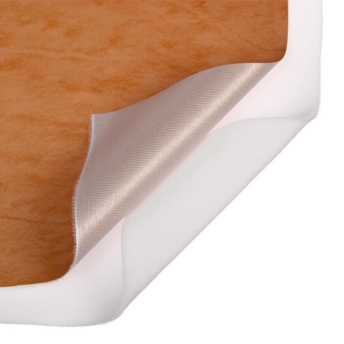 Комплект для обивки дверей 110 × 205 см: иск.кожа, поролон 5 мм, гвозди, струна, светло-бежевый, «Рулон»