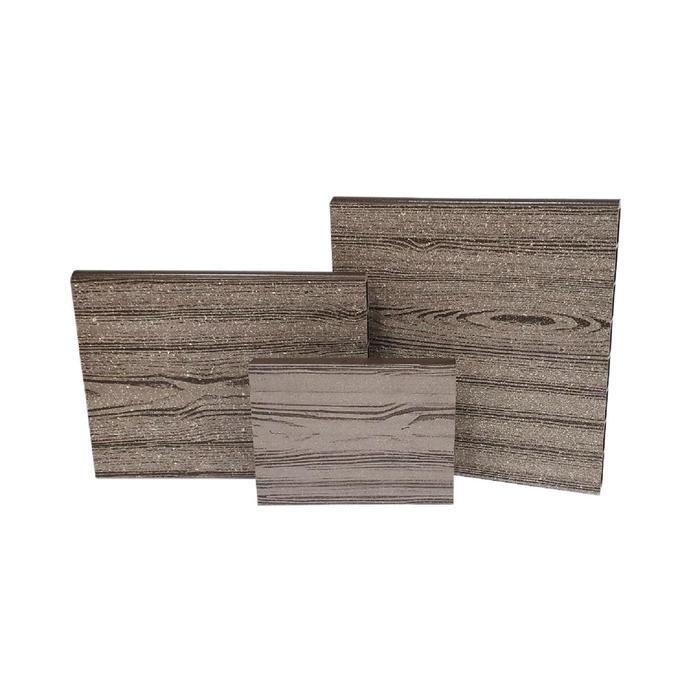 Бортик для грядки, 110 х 15 х 2.5 см, пластик, фактура древесины, коричневый