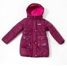 Пальто зимнее для девочки, рост128см, цвет  пурпурный MW27109