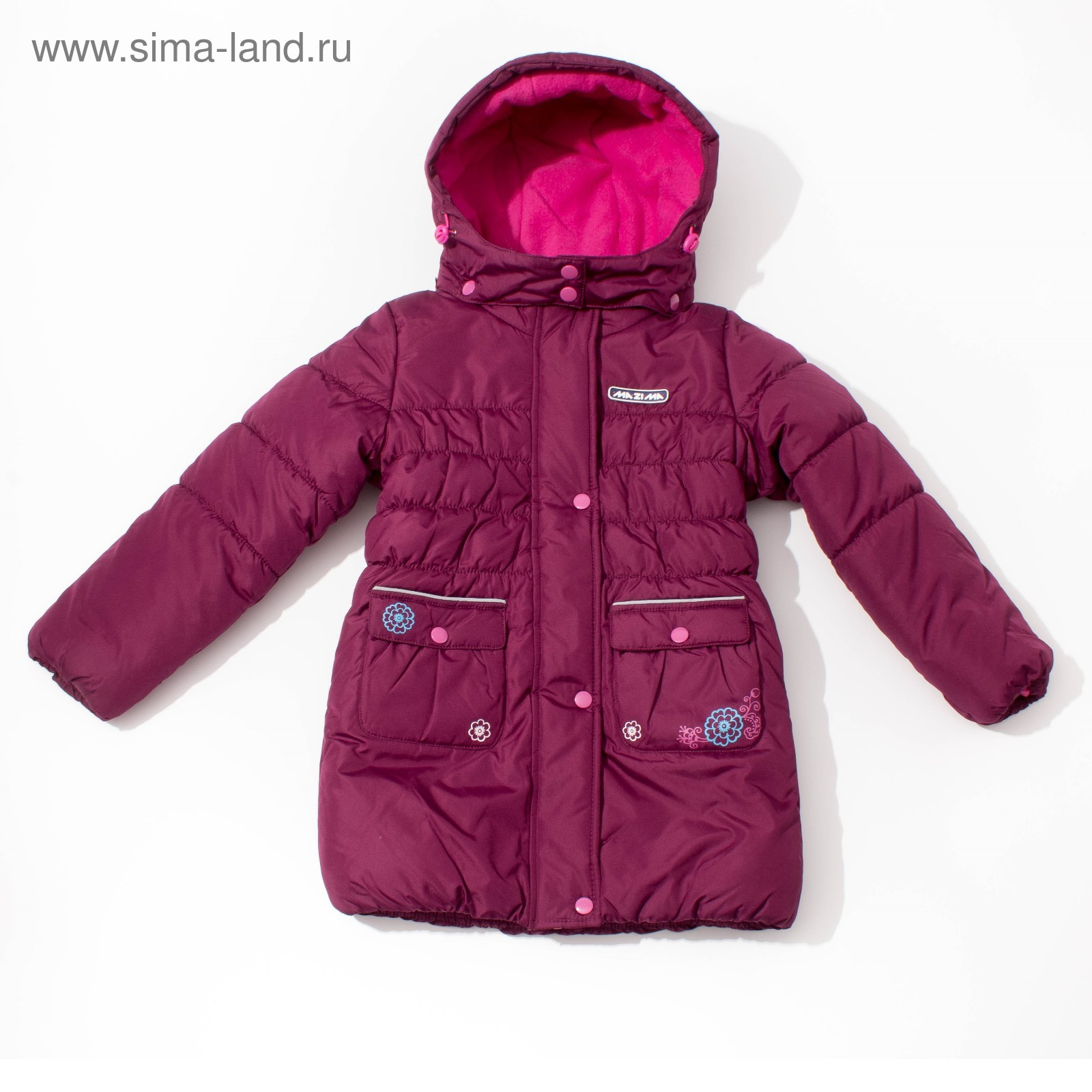 Куртка (пальто) зимняя MW27109 пурпурный e3ad0abb6712b