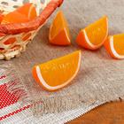 Муляж долька апельсина 5*2,5*2,3 см (фасовка по 10 шт)
