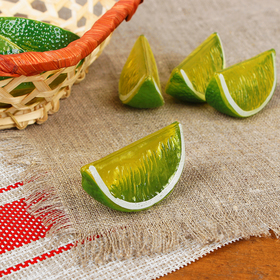 A fake wedge of lime 5*2,5*2,3 cm (price is for 1pc, packing 10 PCs)
