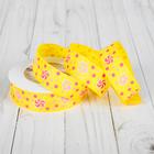 """Лента репсовая """"Конфеты"""", 25мм, 22±1м, цвет жёлтый"""