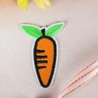 """Термоаппликация """"Морковка"""", 6*4см, цвет оранжевый"""