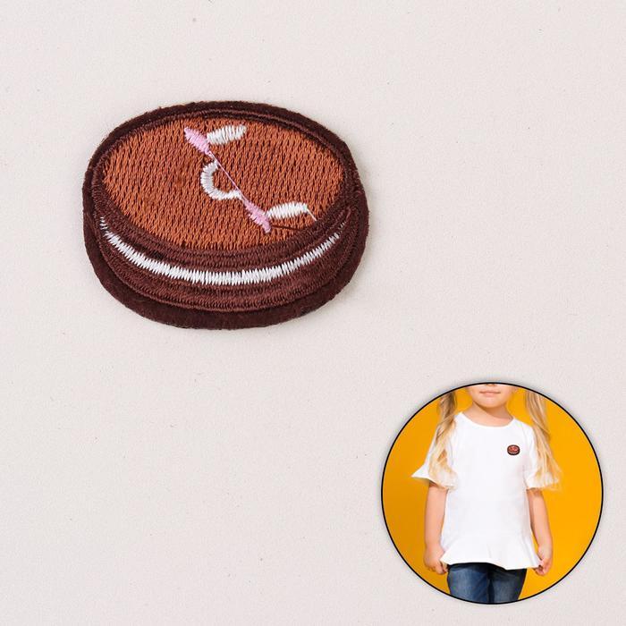 Термоаппликация «Макарунс», 4,5 ? 3,5 см, цвет коричневый
