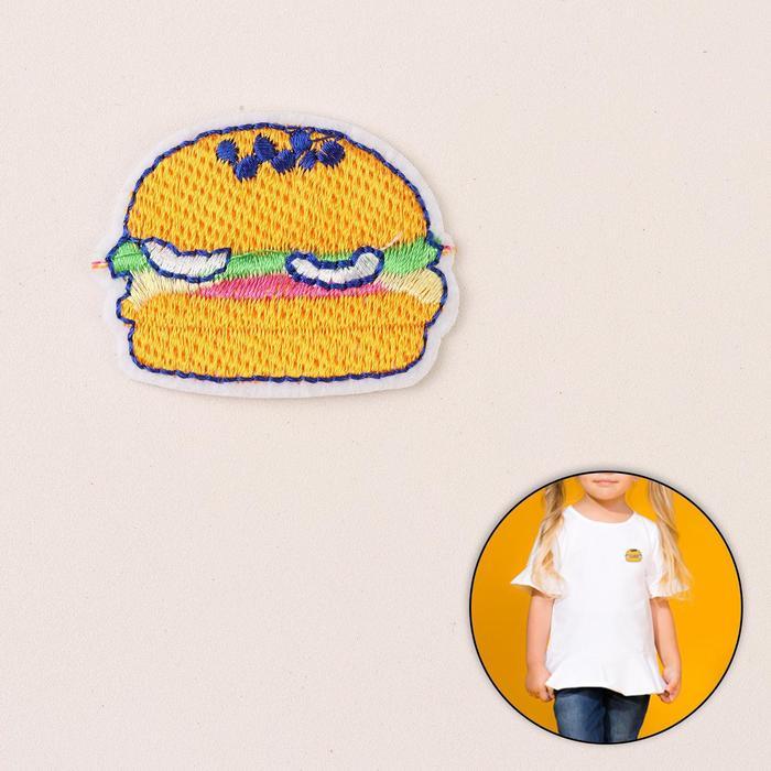 Термоаппликация «Гамбургер», 4,5 ? 3,5 см