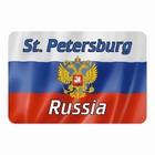 """Магнит полимерный """"Санкт-Петербург"""" герб, 9х6см"""