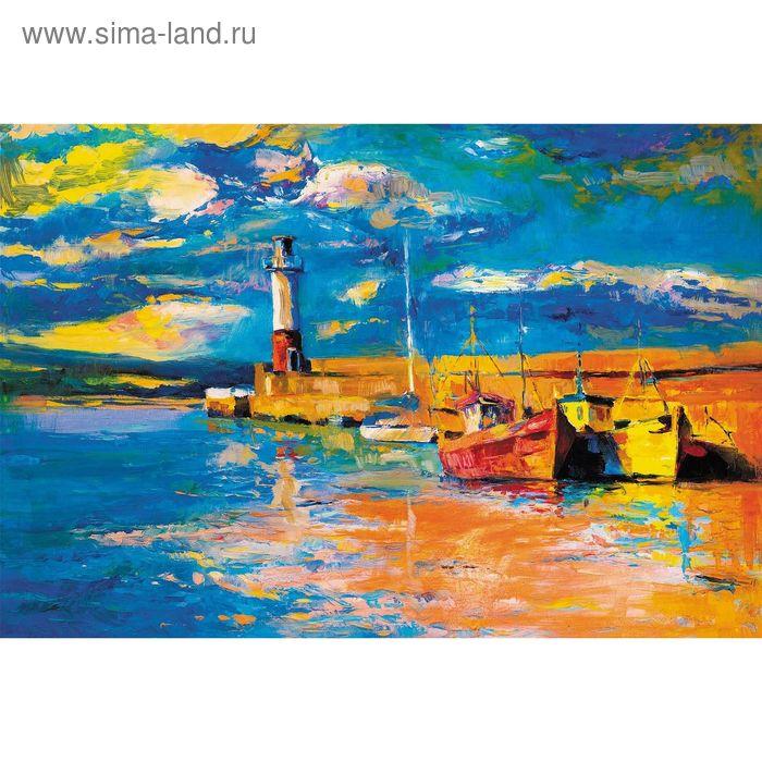 """Фотообои """"Маяк и корабли"""" M 711 (3 полотна), 300х200 см"""
