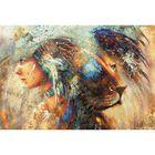 "Фотообои ""Женщина-лев"" M 403 (4 полотна), 400х270 см"