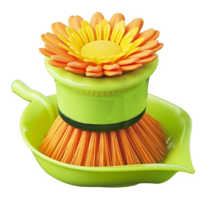 Щётка для посуды Flower power, цвет МИКС