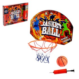 "Basketball set ""free throw"", with ball, ball diameter 12 cm, ring diameter 23 cm"