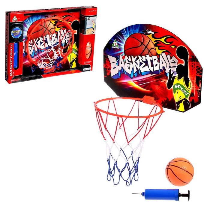 """Баскетбольный набор """"Штрафной бросок"""", с мячом, диаметр мяча 12 см, диаметр кольца 23 см."""