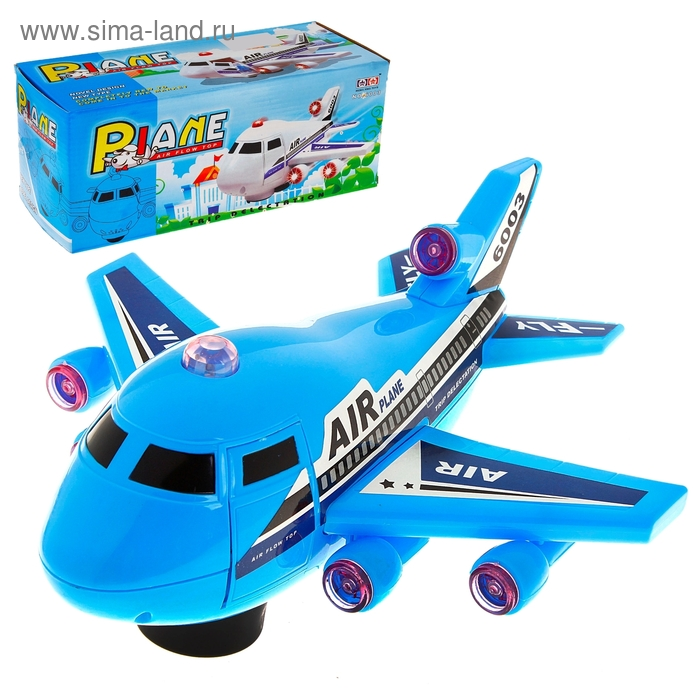 """Самолет """"Воздушный автобус"""", работает от батареек, световые и звуковые эффекты"""